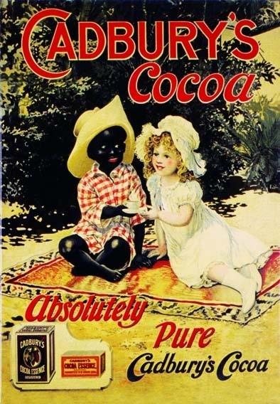 Metalllilaatta CADBURY'S COCOA