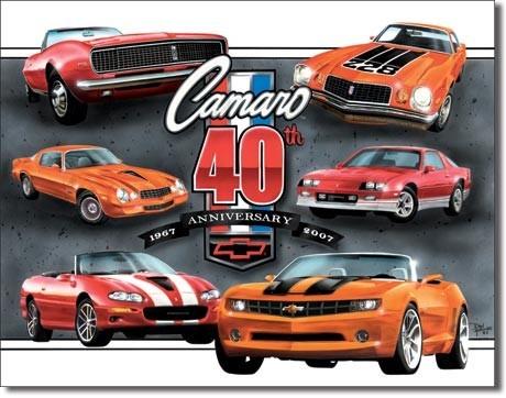 Metalllilaatta CAMARO - 40th anniversary