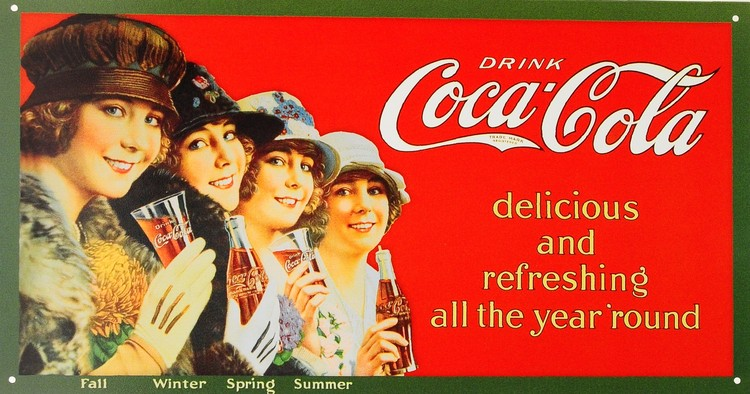 Metalllilaatta COCA COLA - 4 seasons