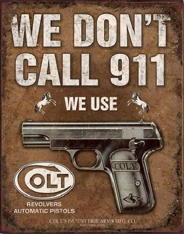 Metalllilaatta  COLT - We Don't Call 914