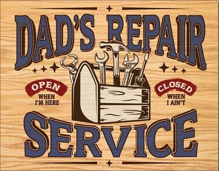 Metalllilaatta  Dad's Repair Service