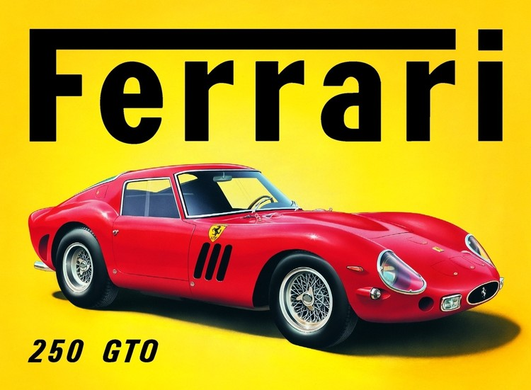 Metalllilaatta FERRARI GTO