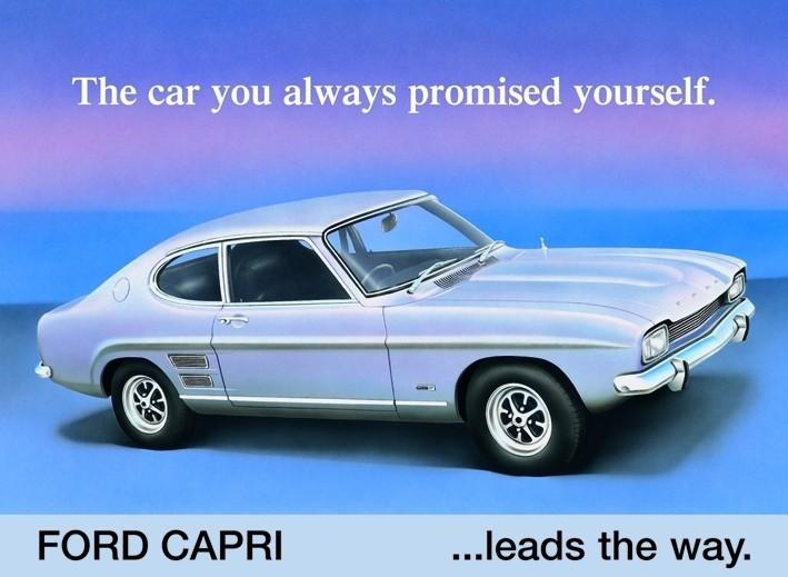 Metalllilaatta FORD CAPRI