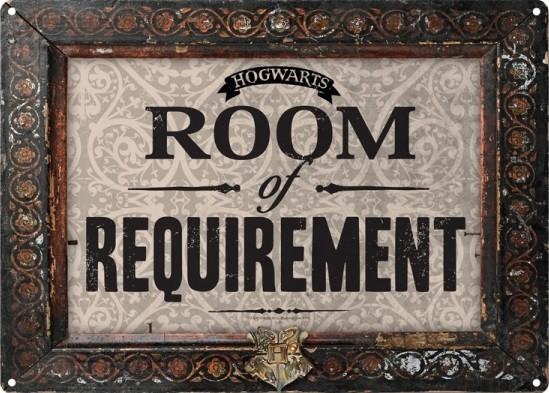 Metalllilaatta Harry Potter - Room Of Requirement