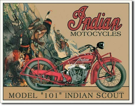 Metalllilaatta INDIAN - scout