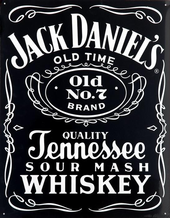 Metalllilaatta JACK DANIEL'S  BLACK