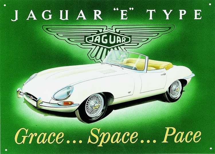 Metalllilaatta JAGUAR E-TYPE