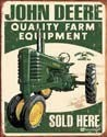 Metalllilaatta JOHN DEERE SOLD HERE