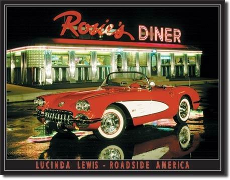 Metalllilaatta LEWIS - rosie's diner