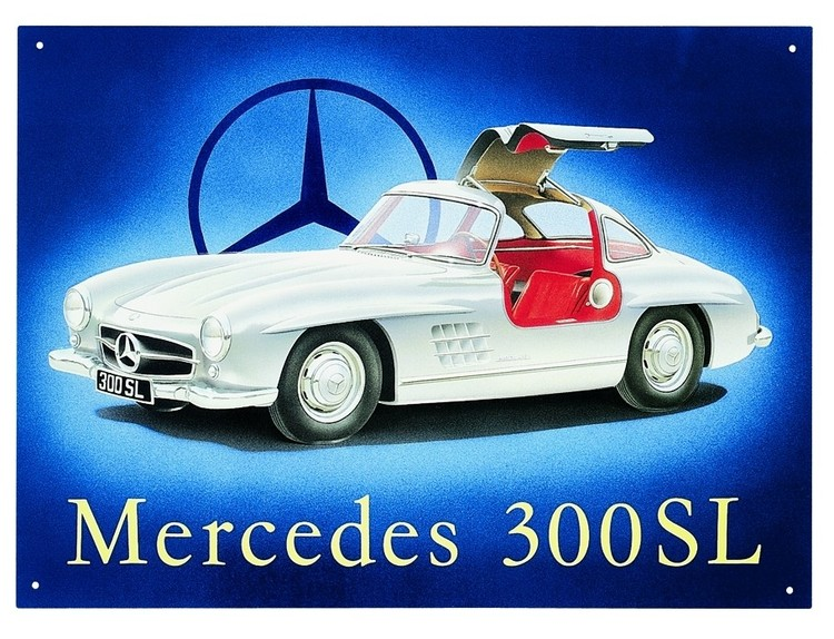 Metalllilaatta MERCEDES 300SL GULLWING