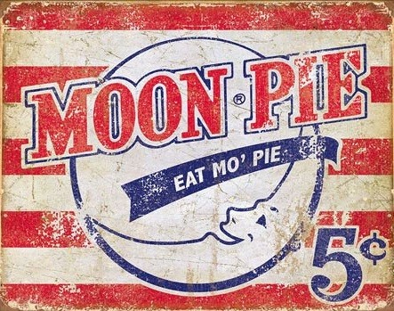 Metalllilaatta  Moon Pie - American