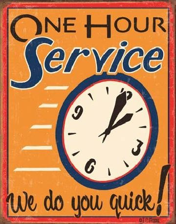 Metalllilaatta MOORE - ONE HOUR SERVICE