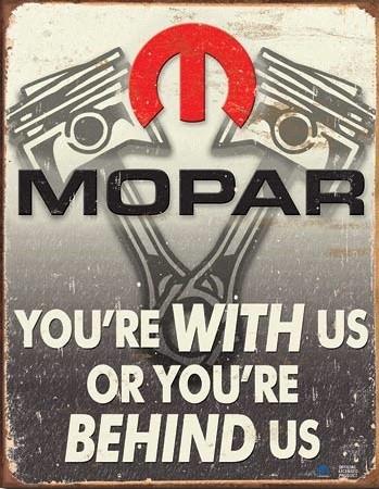 Metalllilaatta  Mopar - Behind Us