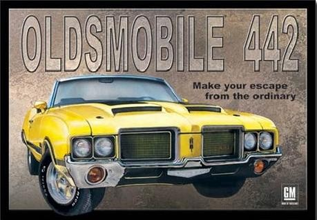 Metalllilaatta OLDSMOBILE 442