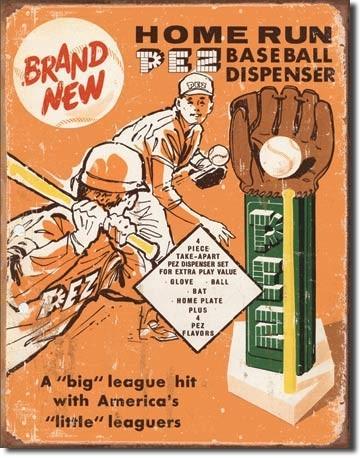 Metalllilaatta PEZ - baseball