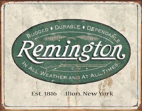 Metalllilaatta REM - weathered logo
