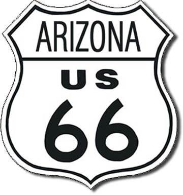 Metalllilaatta ROUTE 66 - arizona