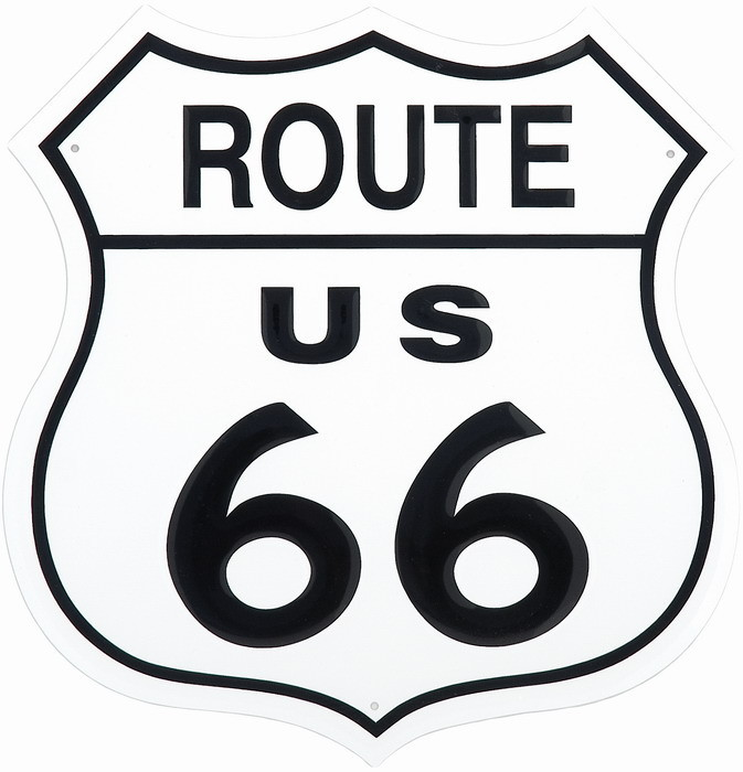 Metalllilaatta ROUTE 66 SHIELD
