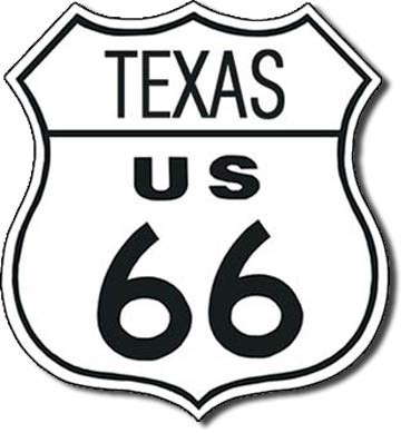 Metalllilaatta  ROUTE 66 - texas