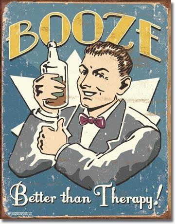 Metalllilaatta SCHONBERG - booze therapy