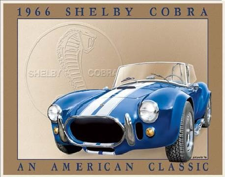 Metalllilaatta SHELBY COBRA