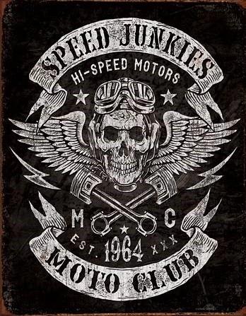 Metalllilaatta Speed Junkies