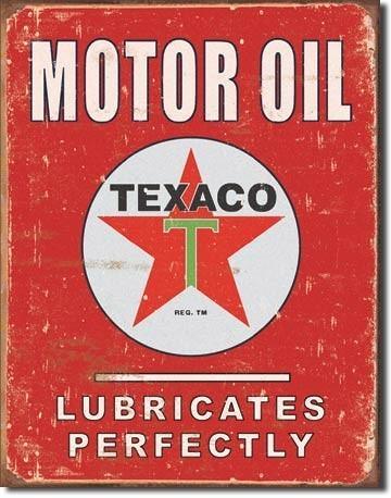 Metalllilaatta TEXACO - lubricates perfectly