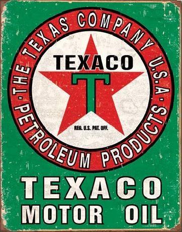 Metalllilaatta TEXACO - Motor Oil