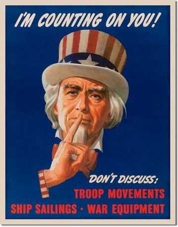Metalllilaatta UNCLE SAM - don't discuss