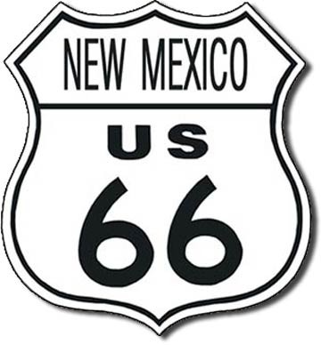 Metalllilaatta US 66 - new mexico