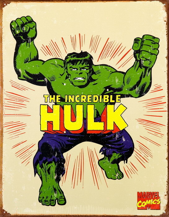 Metalllilaatta VINTAGE THE HULK