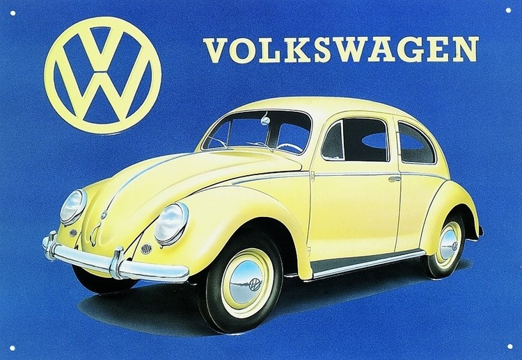 Metalllilaatta VW BEETLE