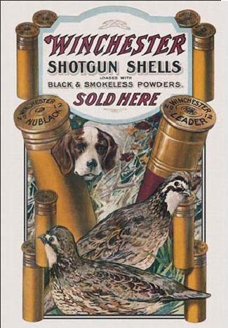 Metalllilaatta WIN - dog & quail