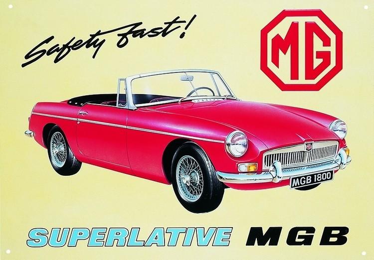 MGB Plaque métal décorée
