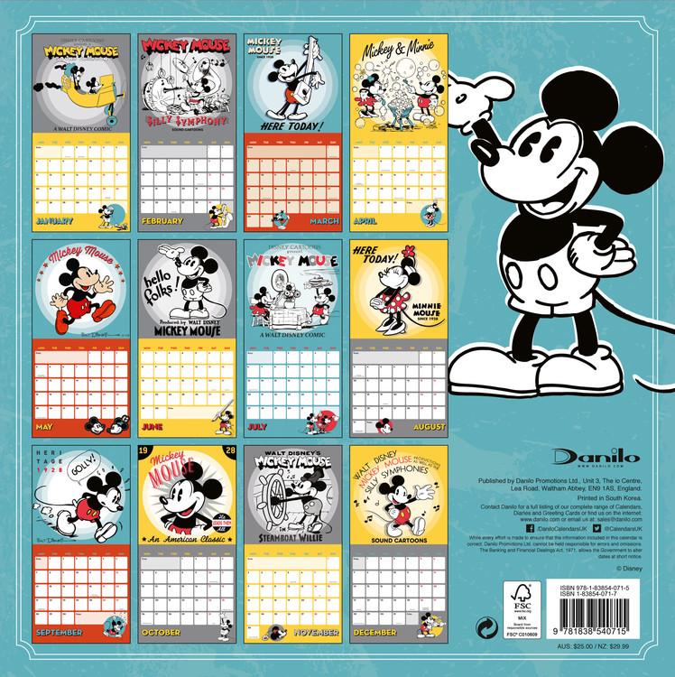 Mickey Mouse Classic - Wall Calendars | Large selection