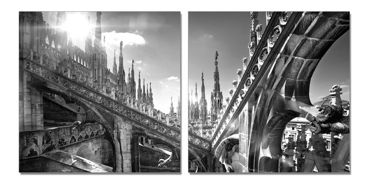 Milan - Duomo di Milano Collage Tableau Multi-Toiles