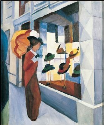 Milliner's Shop (Hutladen), 1923 Reproduction d'art
