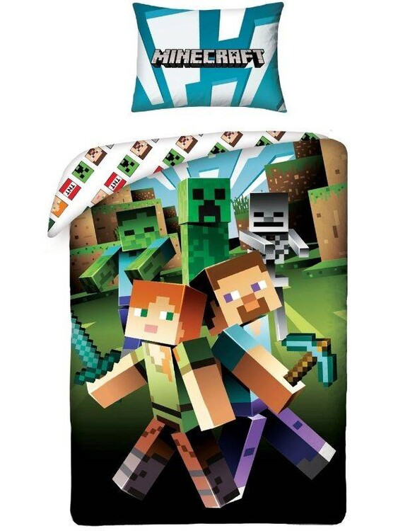 Bed sheets Minecraft - Alex and Steve
