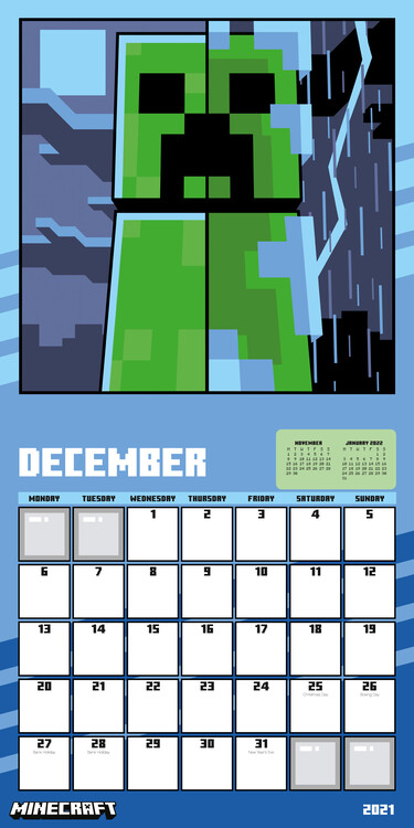 Minecraft   Wall Calendars | Large selection