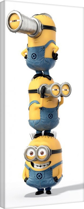 Minions (Despicable Me) - Stacked Canvas Print