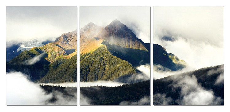 Misty Mountain Tableau Multi-Toiles