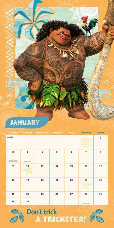 Moana Calendar 2021 Images