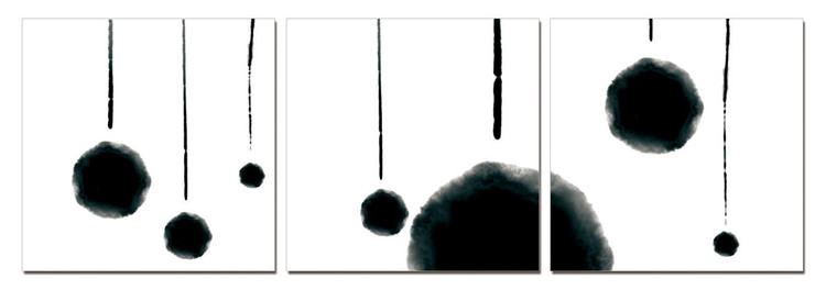 Modern Design - Hanging Balls (B&W) Tableau Multi-Toiles