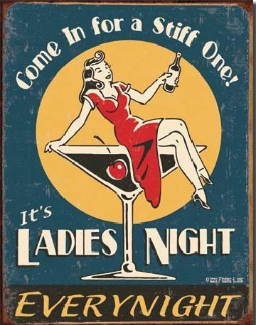 MOORE - Ladies Night Plaque métal décorée