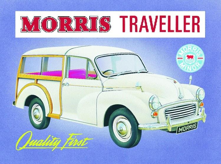 Morris traveler  Plaque métal décorée