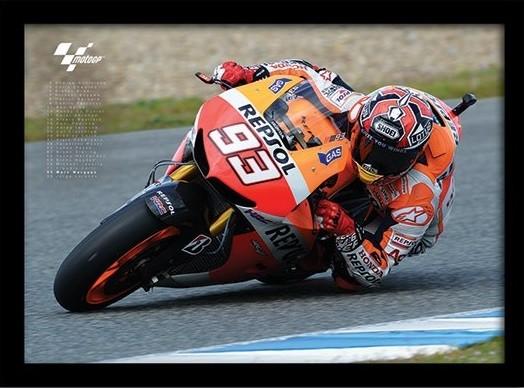 MOTO GP - Marquez Poster encadré en verre