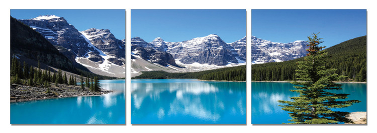 Mountains - Lake between the Mountains Tableau Multi-Toiles