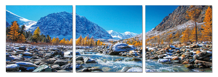 Mountains - Mountain Stream Tableau Multi-Toiles