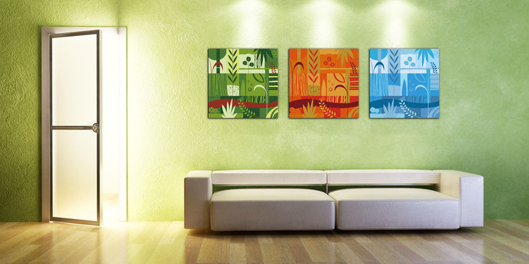 Art - Colorful World Mounted Art Print