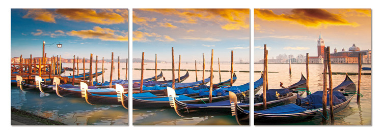 Boats in the bay Mounted Art Print
